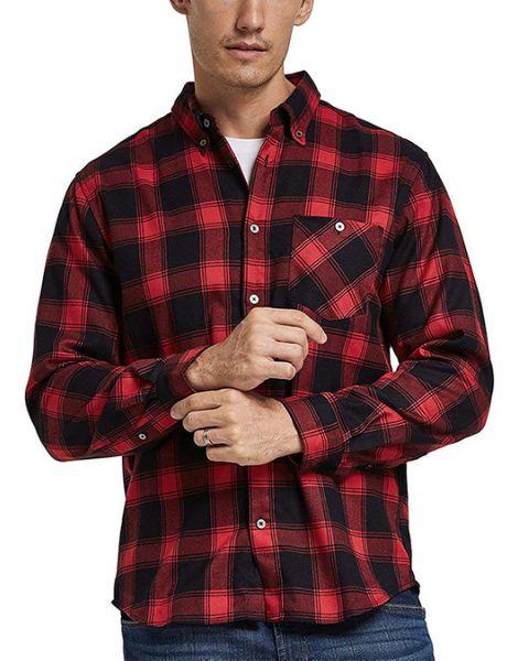 wholesale bulk long sleeve quick dry polyester mens plaid flannel shirt
