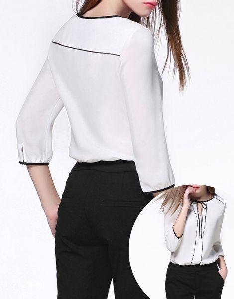wholesale bulk plain dyed polyester chiffon ladies top