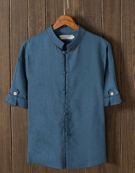 custom retro button mid sleeve cotton mens t-shirt manufacturers