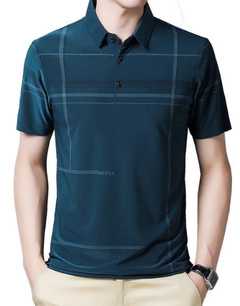 wholesale bulk short sleeve turtleneck spandex mens t-shirt