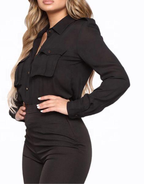 wholesale bulk long sleeve chiffon ladies office shirts