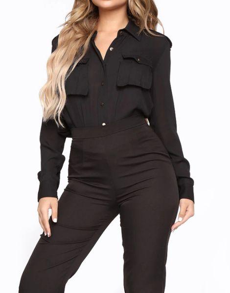 custom long sleeve chiffon ladies office shirts manufacturers