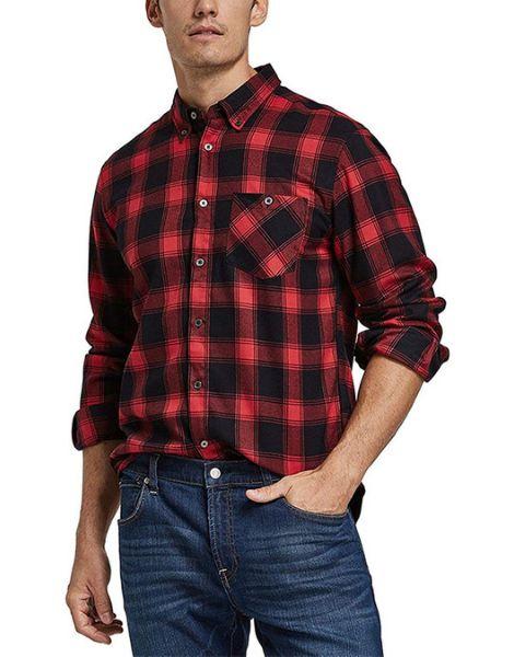 bulk long sleeve quick dry polyester mens plaid flannel shirt