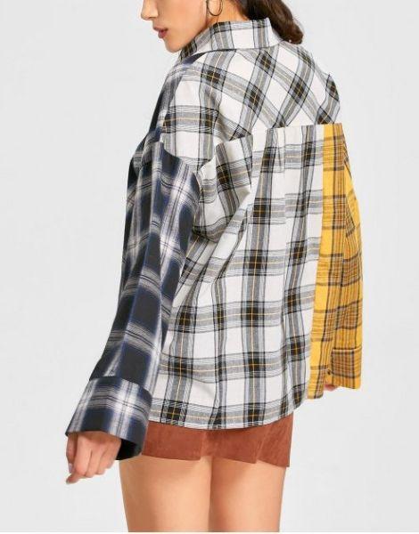 wholesale long sleeve plaid casual women flannel shirt manufacturers