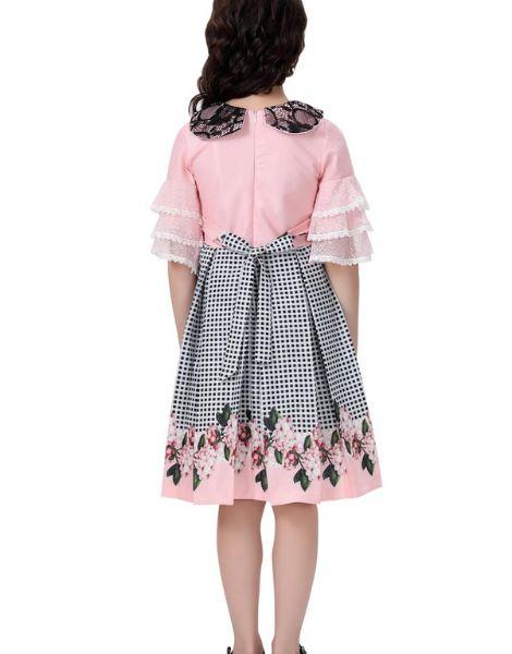 wholesale o-neck long sleeve kids girls dress