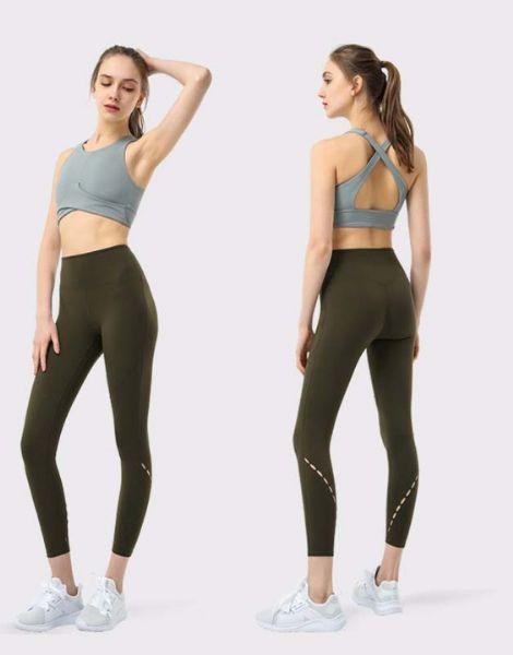 wholesale bulk quick dry plaid women workout clothes