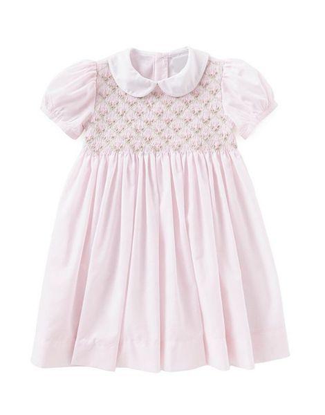 custom short sleeve flower design little girl dresses manufacturers