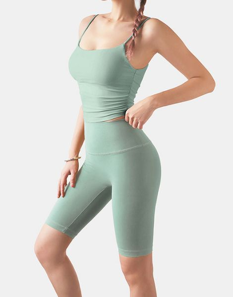 wholesale bulk 2-piece strapless women workout sets