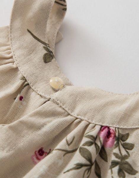 wholesale bulk crew neck sleeveless little girl dresses