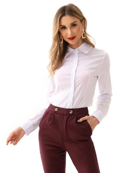 wholesale long sleeve cotton women shirts manufacturers