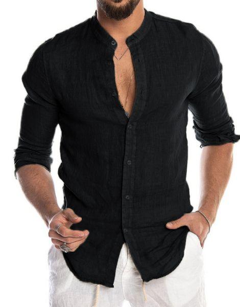 wholesale long sleeve lilen mens shirt