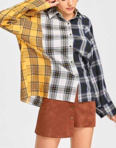 wholesale bulk long sleeve plaid casual women flannel shirt