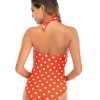 wholesale polka dot V neck onepiece swimwear manufacturers