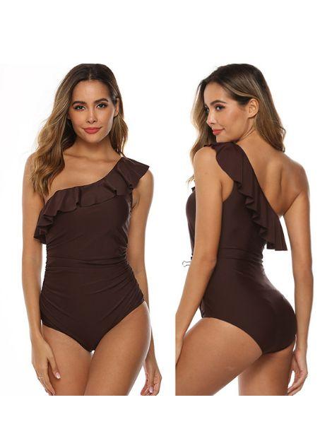 custom waterproof spandex one shoulder swimsuit manufacturers
