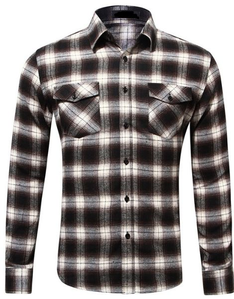custom long sleeve buffalo plaid flannel shirts