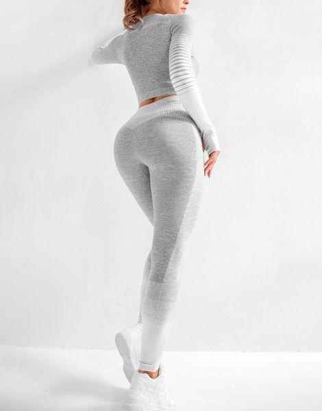 bulk long sleeve 2 piece women workout set