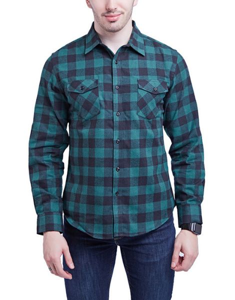 bulk long sleeve buffalo plaid flannel shirts