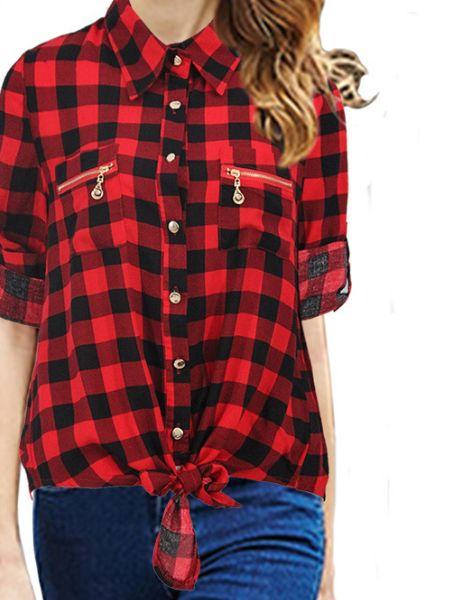 bulk short sleeved cotton womens flannel shirt