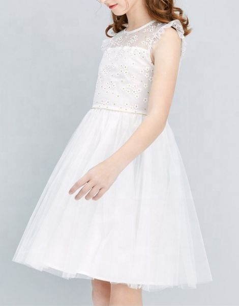 wholesale flower style party dress for girls