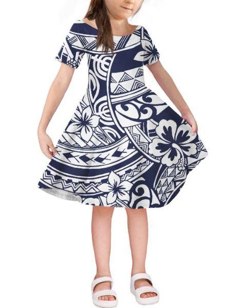 wholesale short sleeve spandex little girl dresses