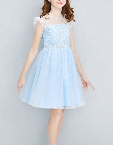 wholesale flower style party dress for girls manufacturers
