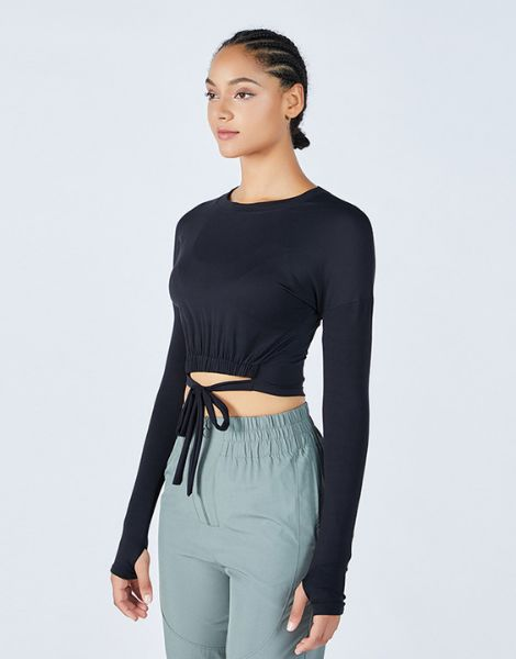 wholesale long sleeve gym wear top manufacturers