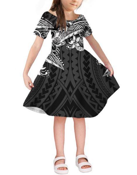wholesale bulk short sleeve spandex little girl dresses