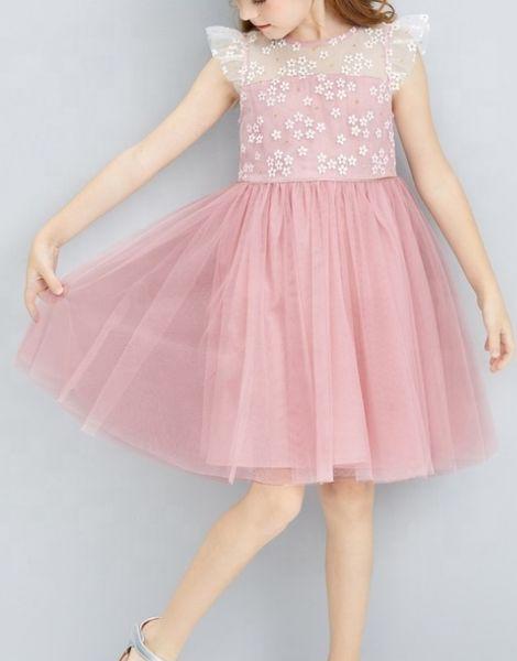 bulk flower style party dress for girls
