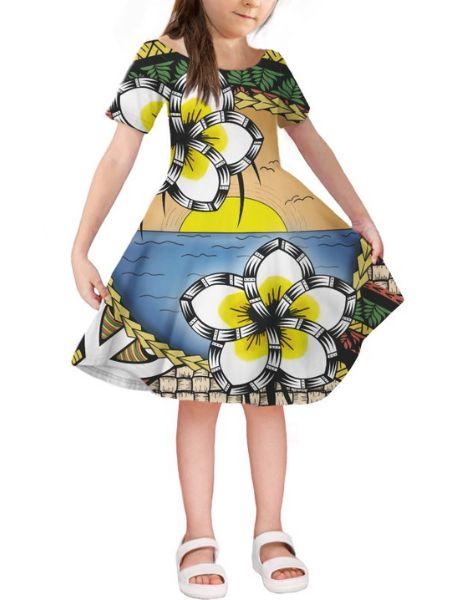 bulk short sleeve spandex little girl dresses
