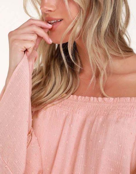 custom long sleeve off shoulder womens top