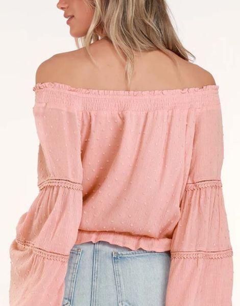 wholesale bulk long sleeve off shoulder womens top