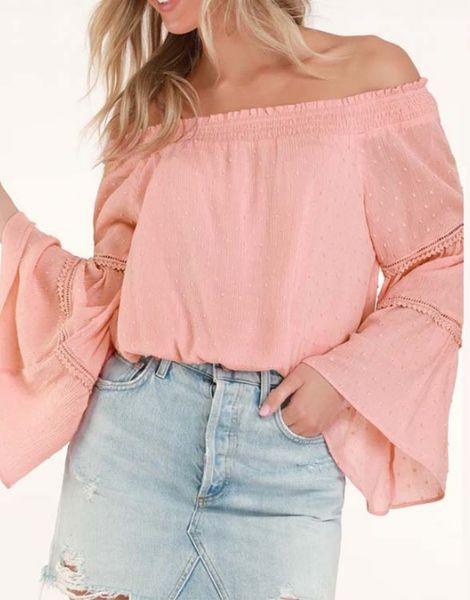 bulk long sleeve off shoulder womens top